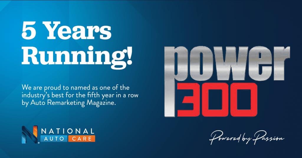 NAC named to Auto Remarketing's Power 300 list – 4 Years Running