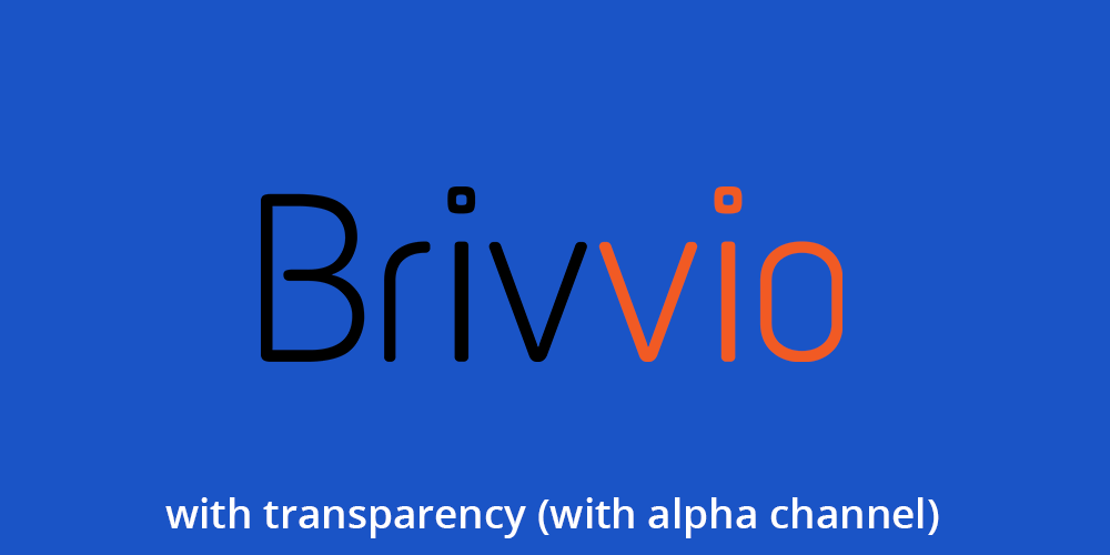 Blue background with Brivvio logo in the centre