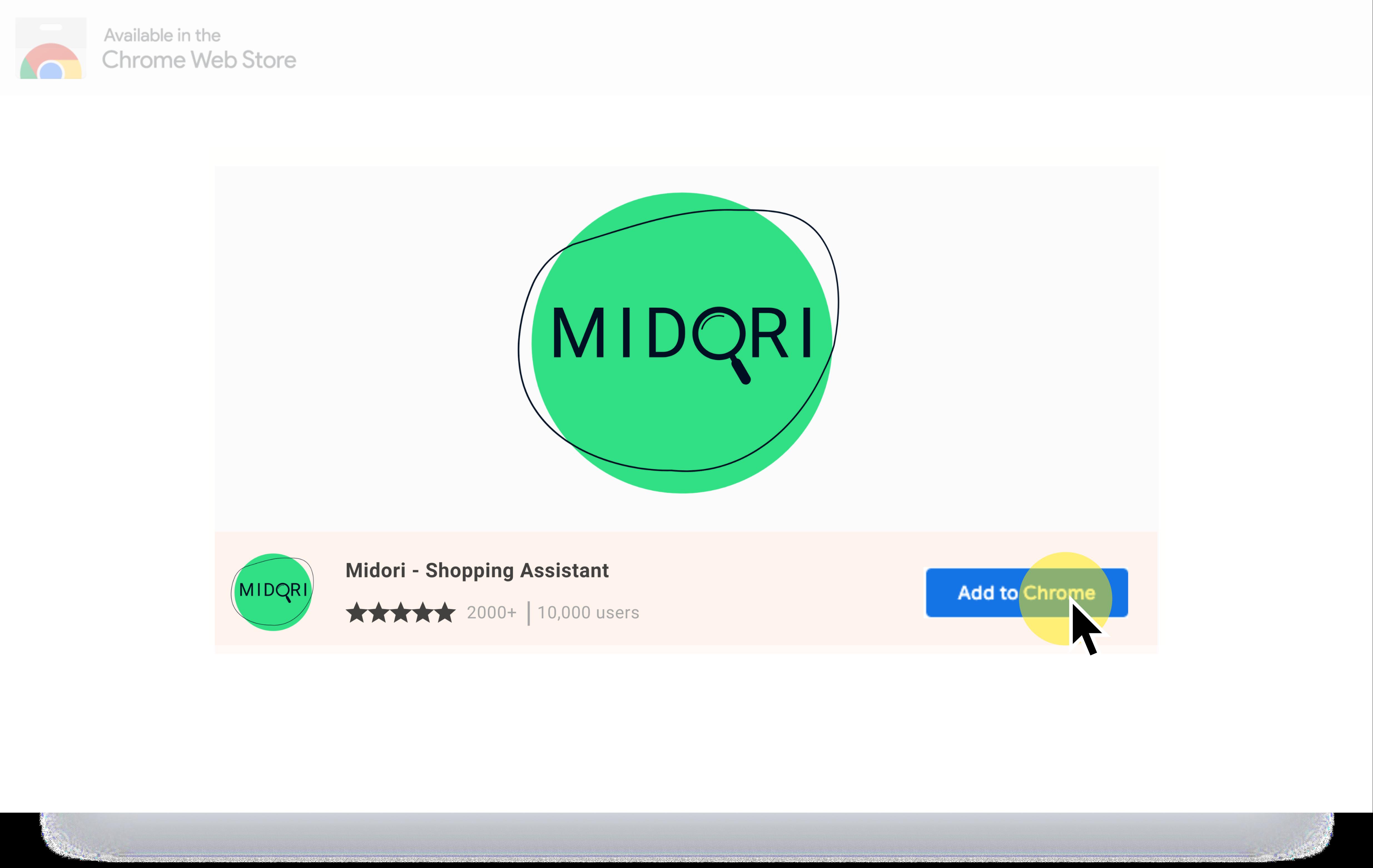 midori chrome webstore view