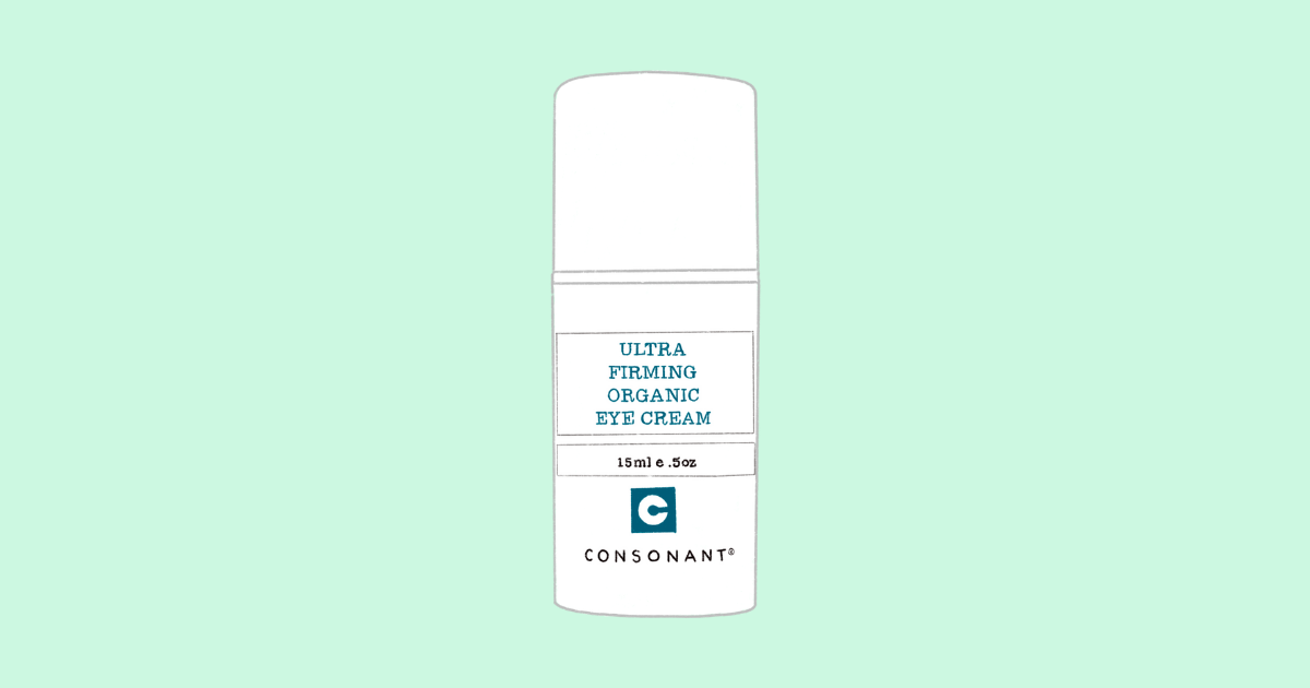 ultra firming organic eye cream illustration
