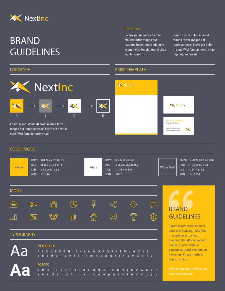 Brand Guidelines Example - latin