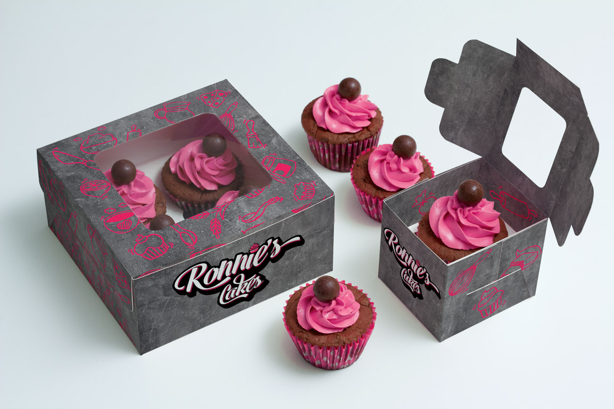 Ronnie's Cakes - packaging
