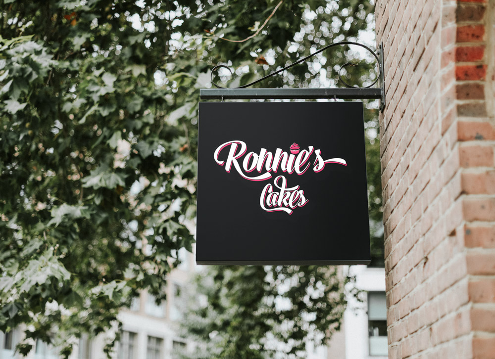 Ronnie's Cakes - Signage mock-up