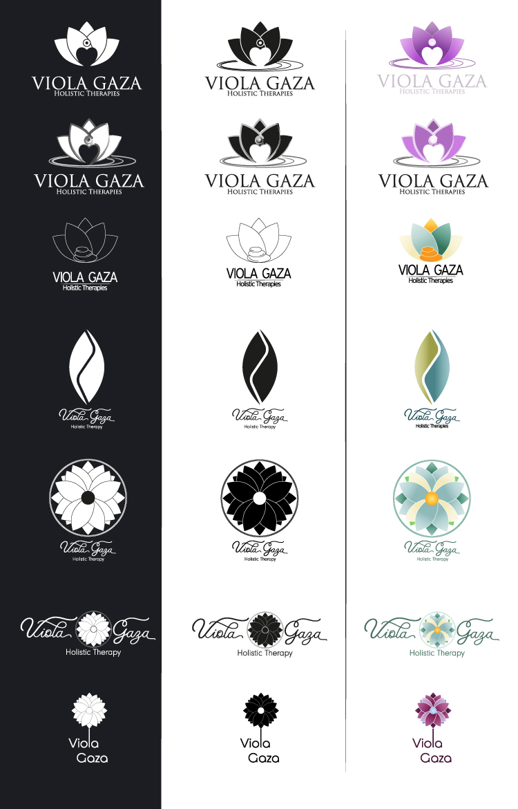 Viola Gaza - Initial Logo Options