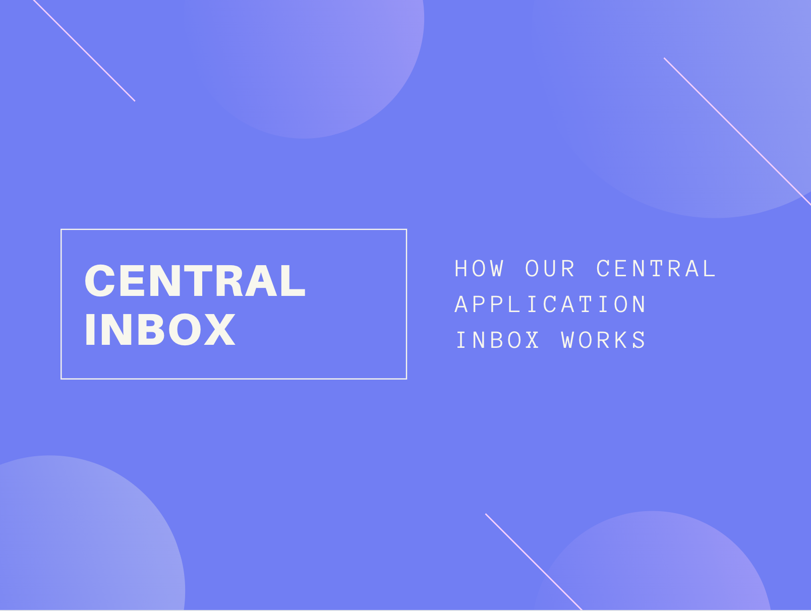 How our Central Application Inbox helps you to structure your recruiting