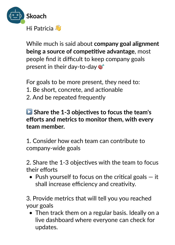 Skoach Challenge Share Company Goals