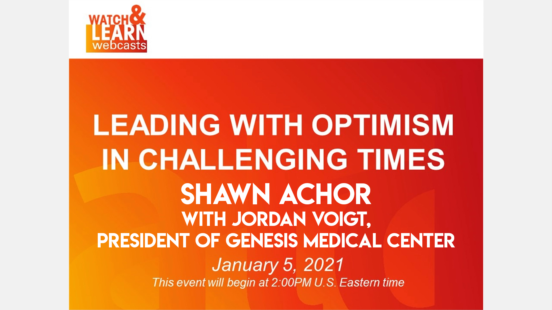 ATD Webinar - Leading with Optimism in Challenging Times