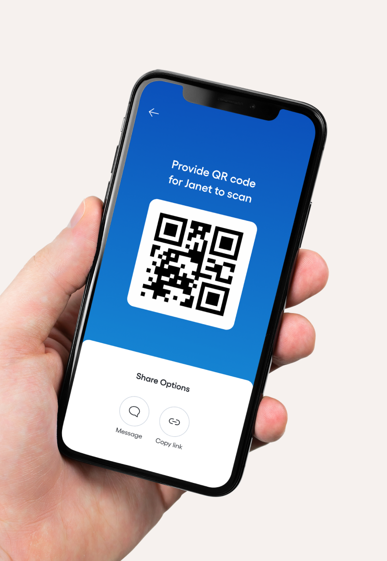 QR code to share content