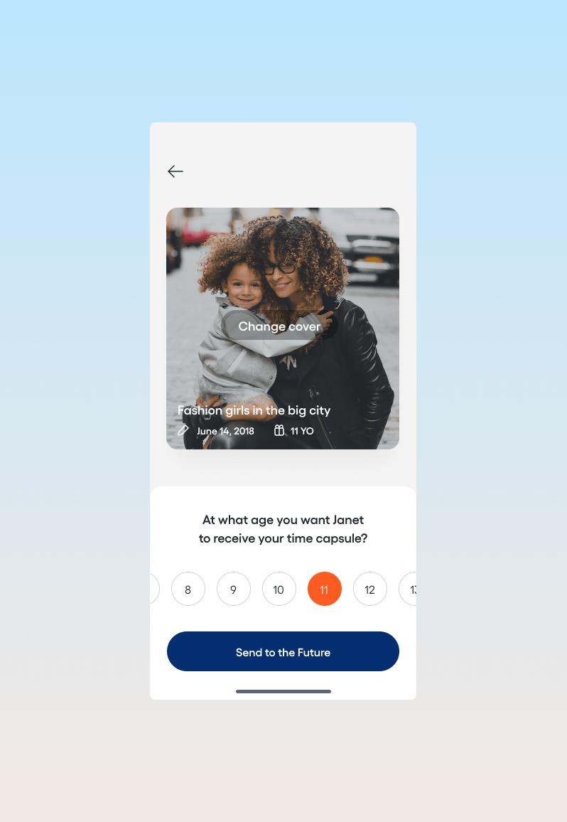 App screenshot: story settings