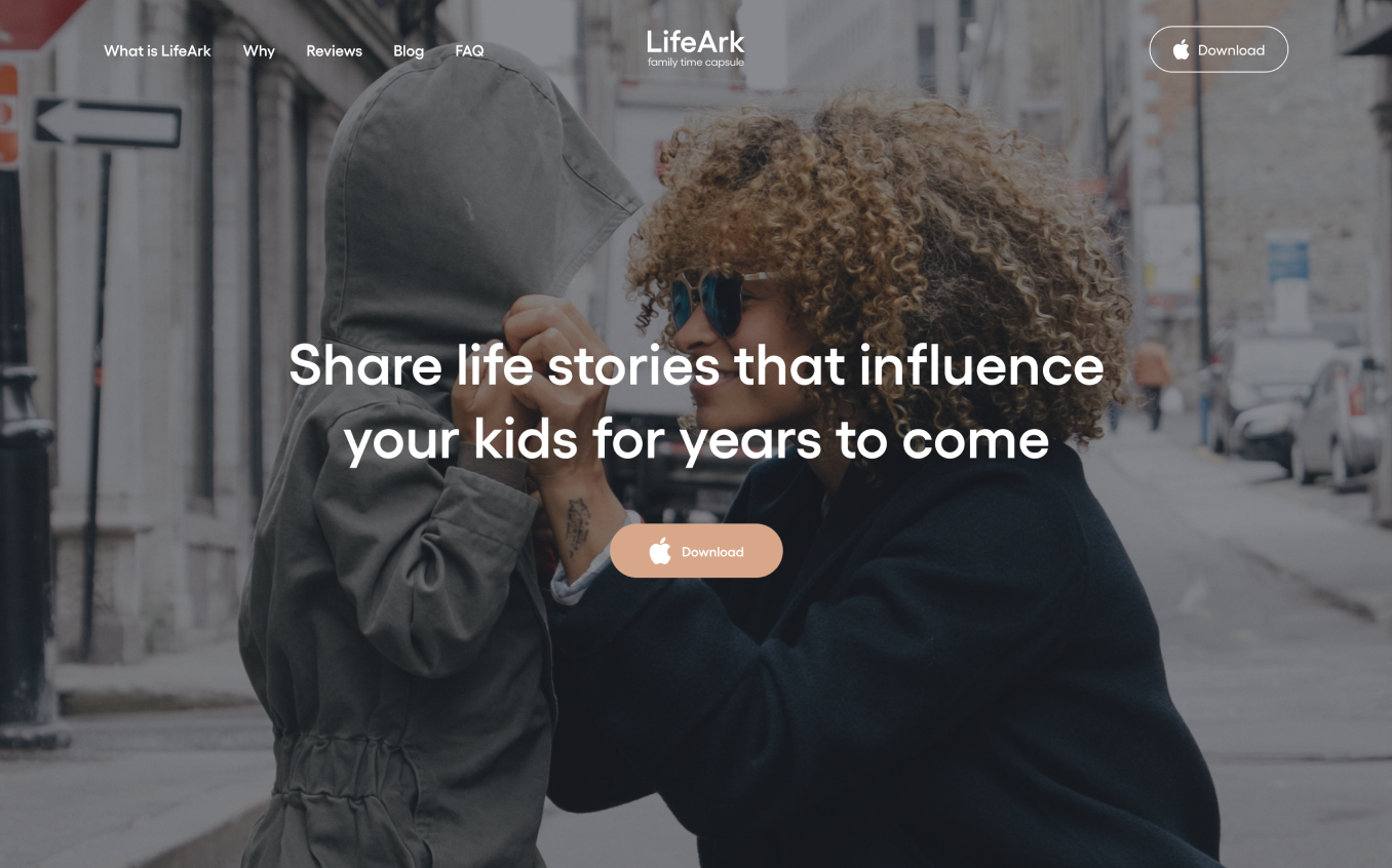 LifeArk website homepage