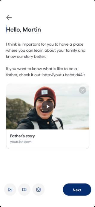 Product screenshot: story