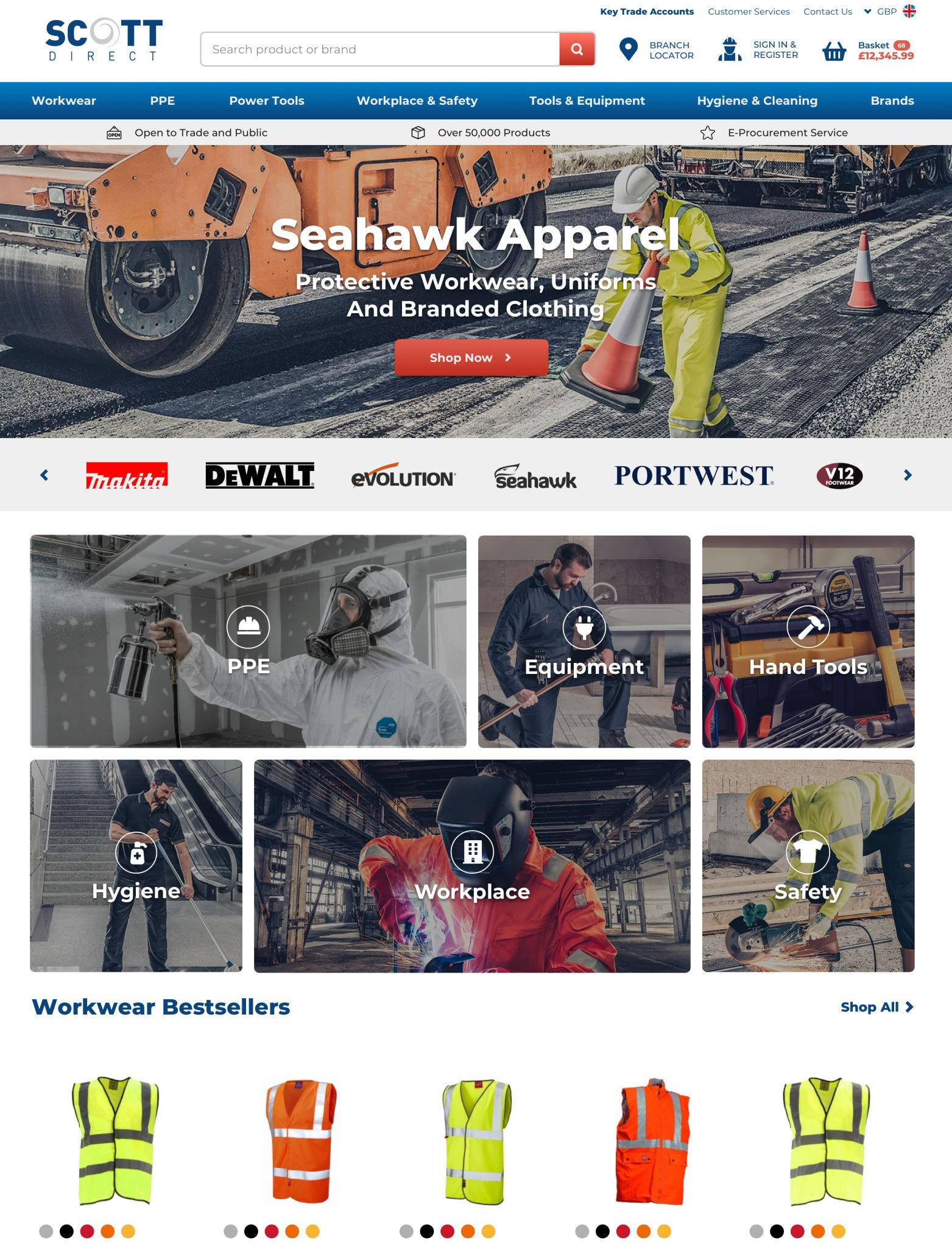 Scott Direct // Product Page // Magento 2 B2B/B2C Ecommerce Website