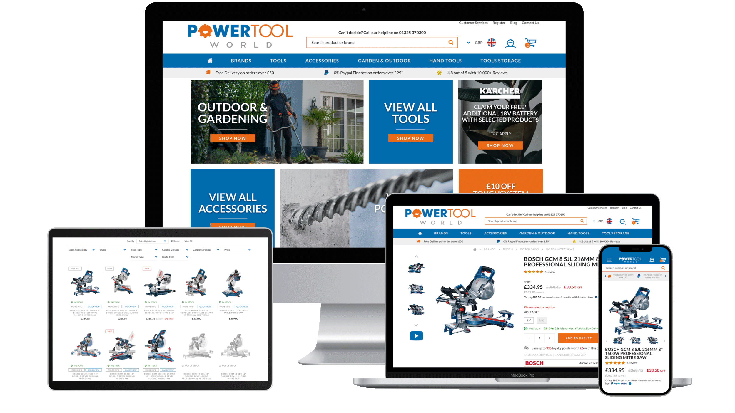 Powertool World Magento 2 Responsive Design