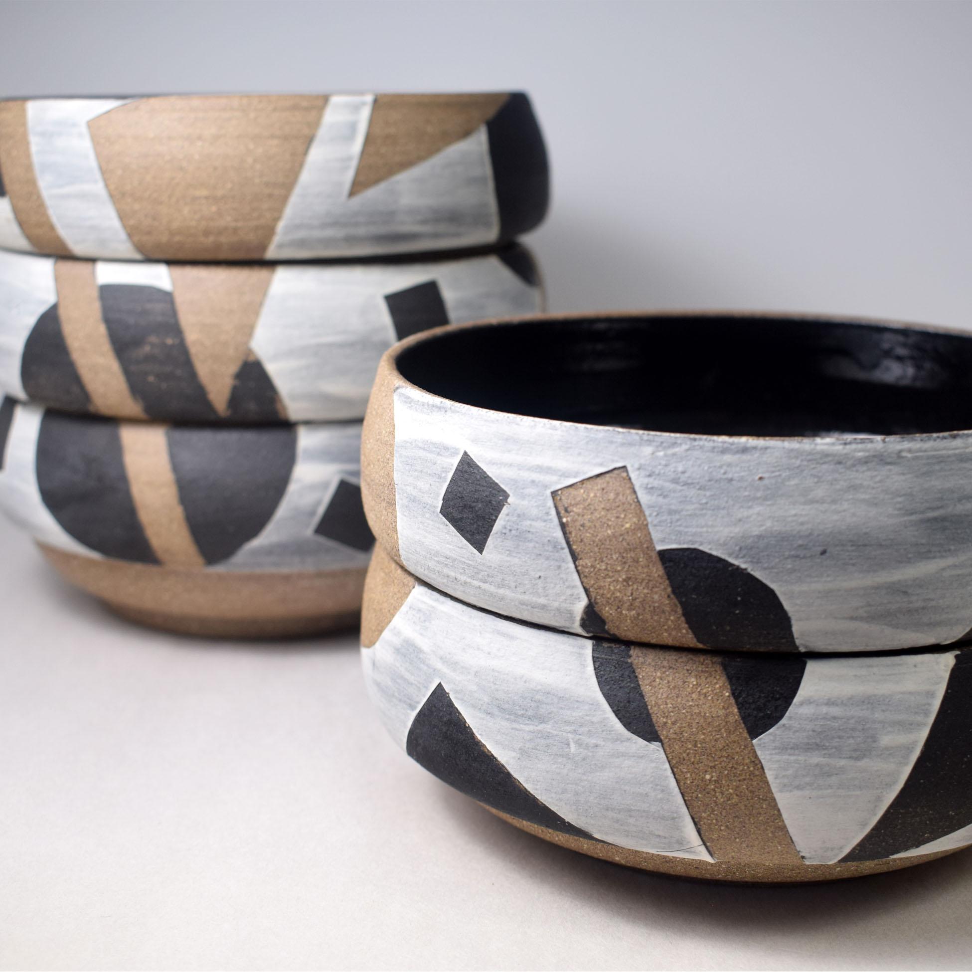 stacking ceramic bowls