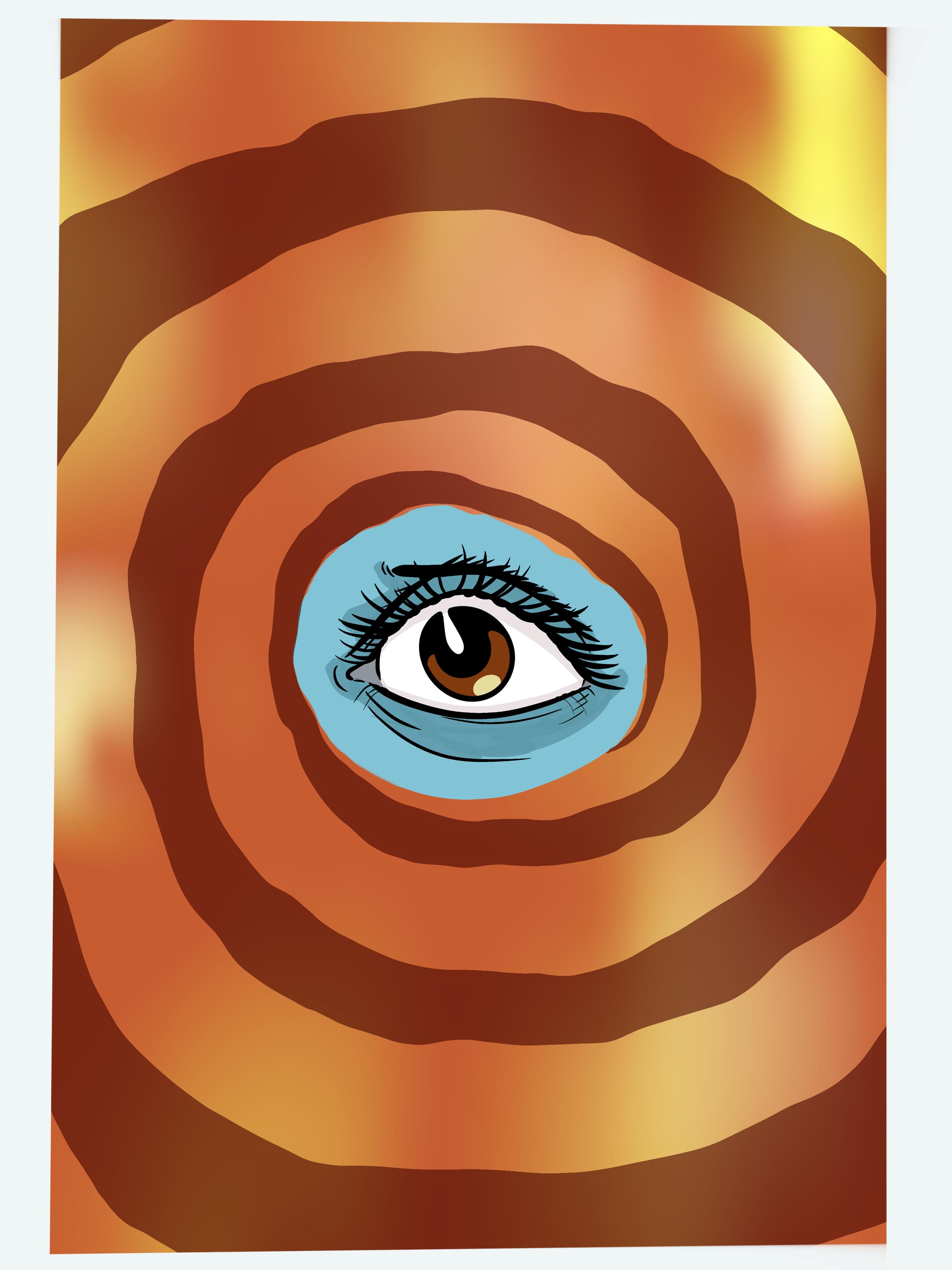 Uneasy eye digital drawing