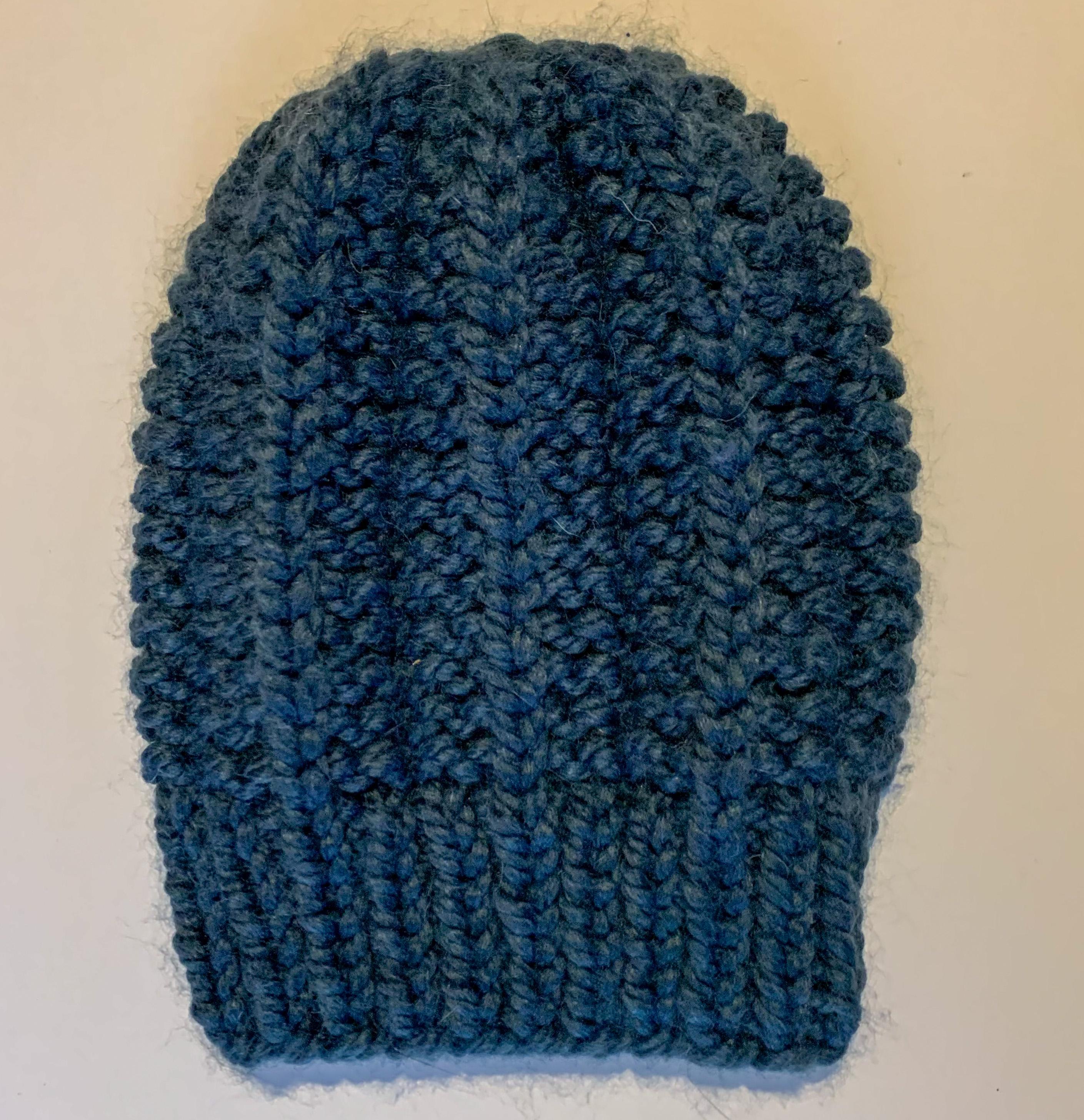 Navy Blue Knit Beanie
