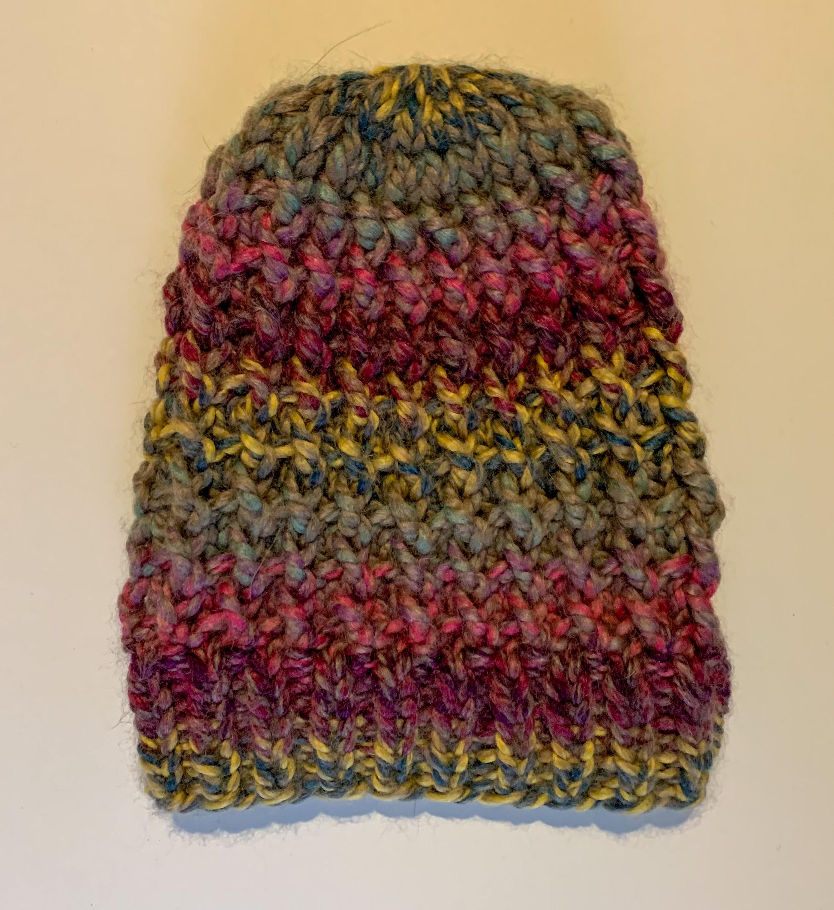 Multi-colored Knit Beanie