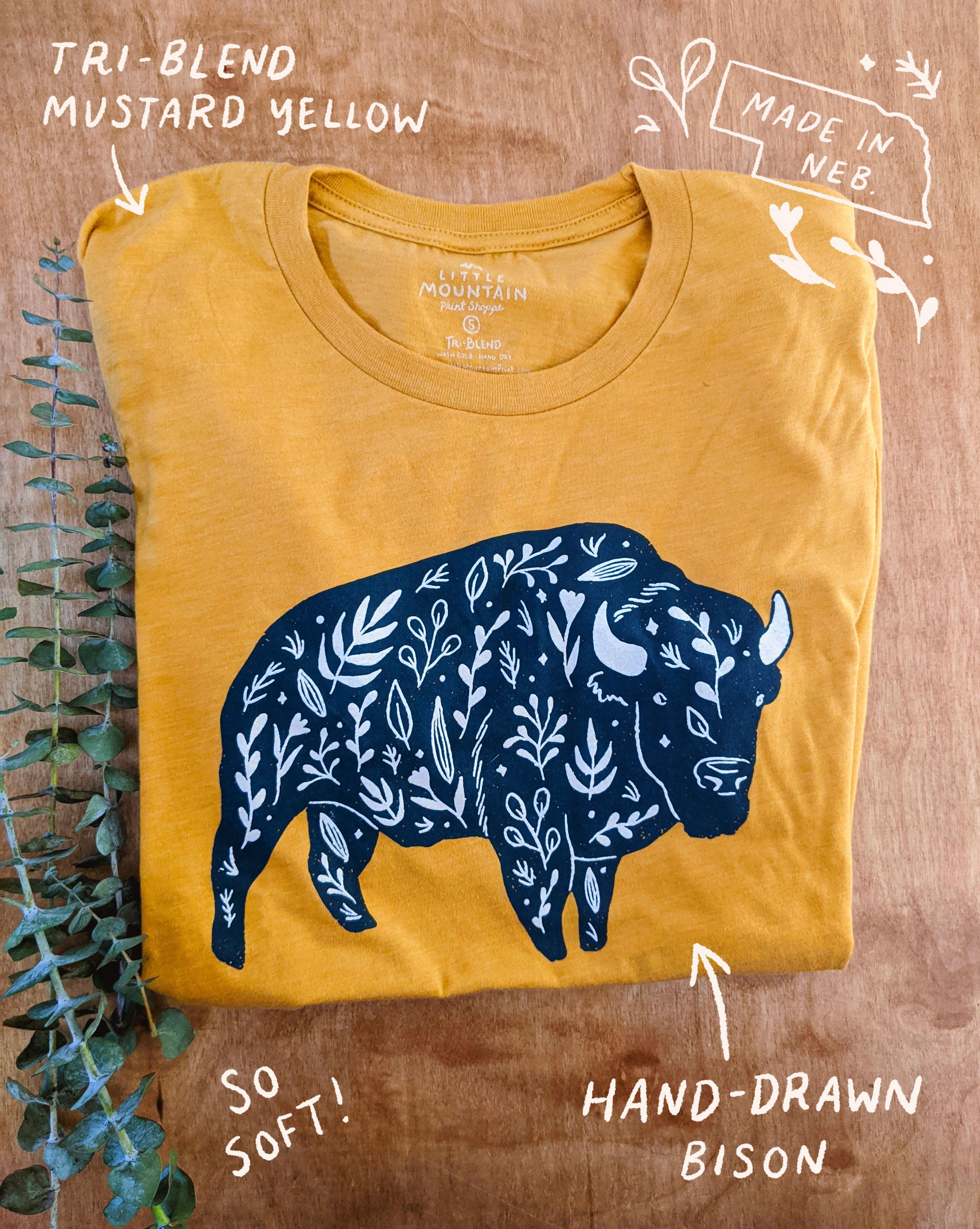 Bison short-sleeved t-shirt