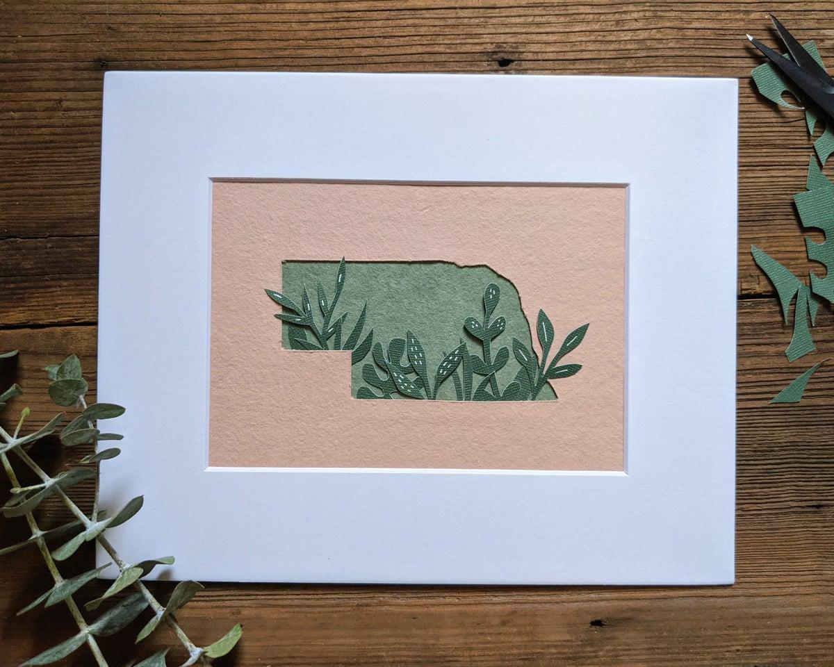 Cut paper Nebraska