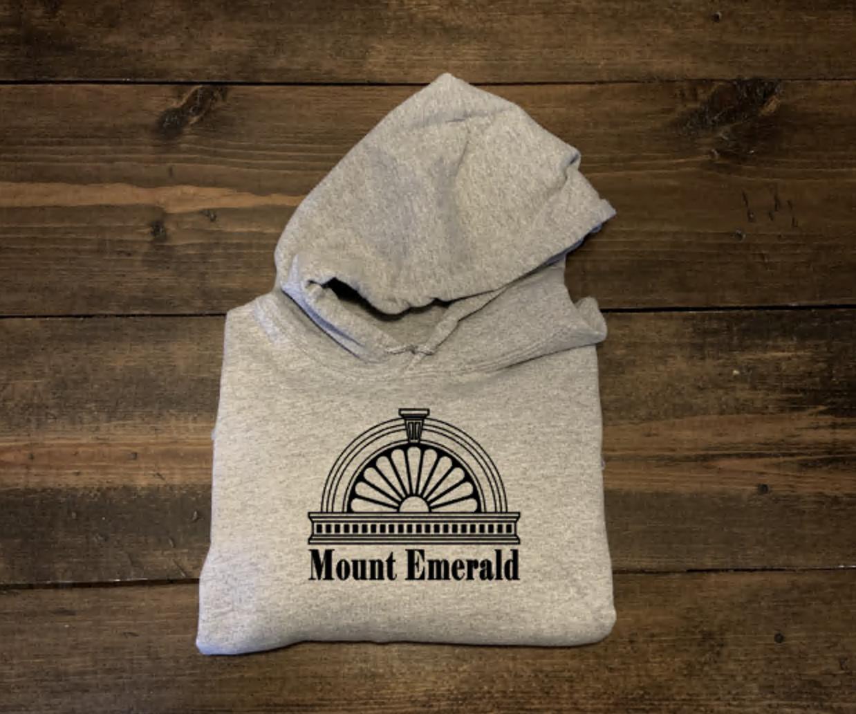 Mount Emerald, part of the Near South neighborhood, screen printed hoodie