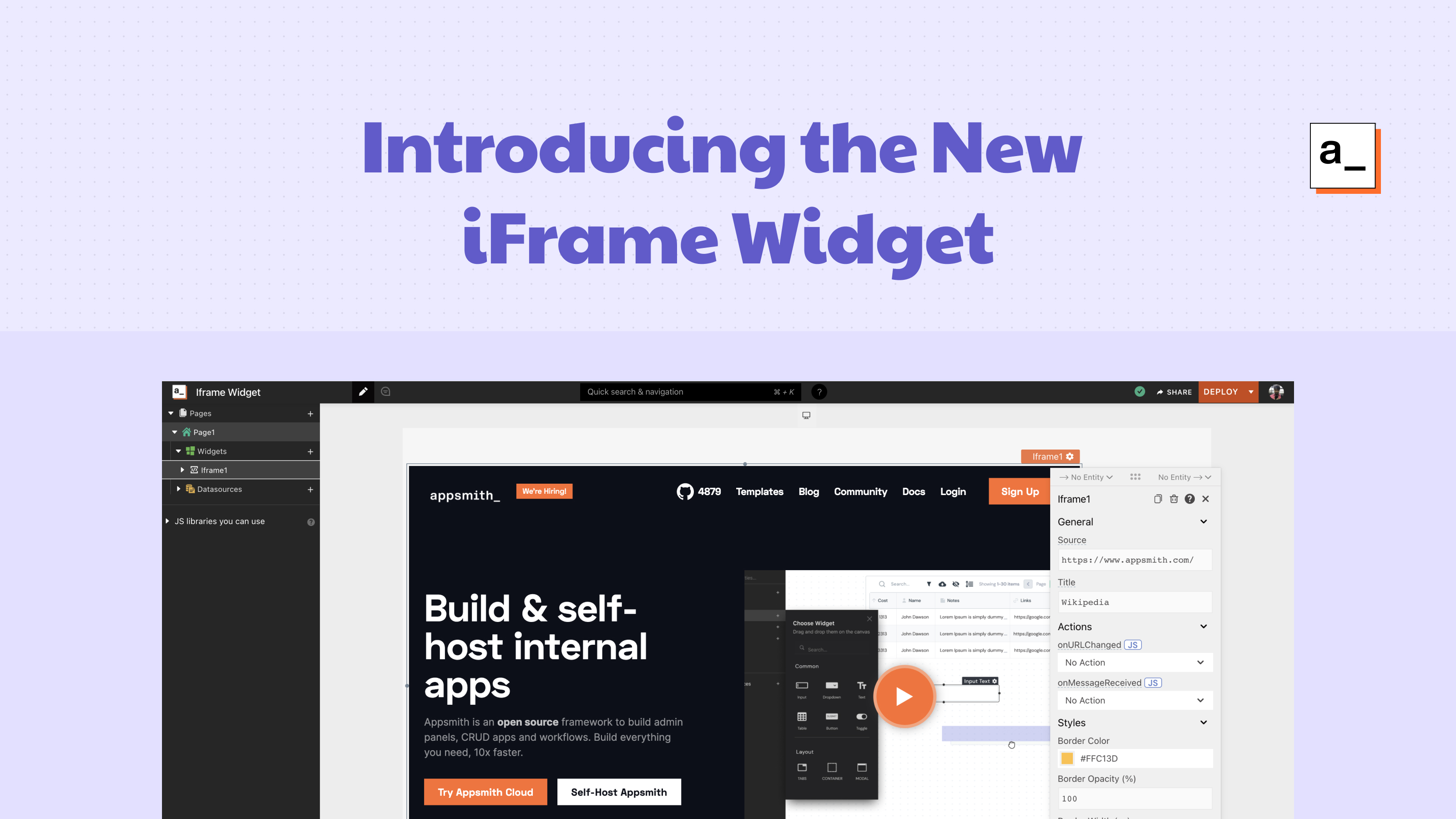 Embed Anything! Introducing the New iFrame Widget