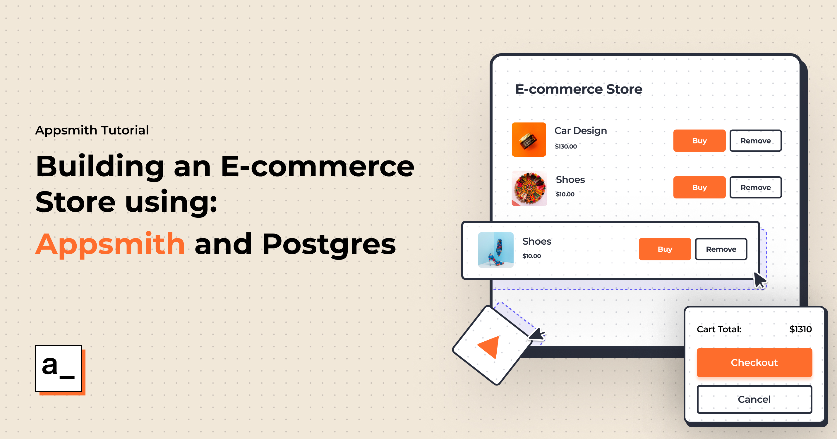 Building an E-commerce Store using Appsmith and Postgres