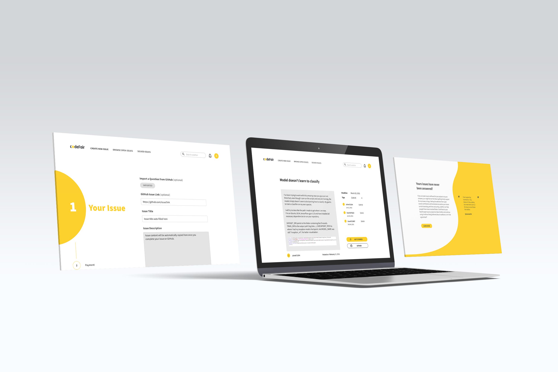 resident's platform using ipad. Home page mockup