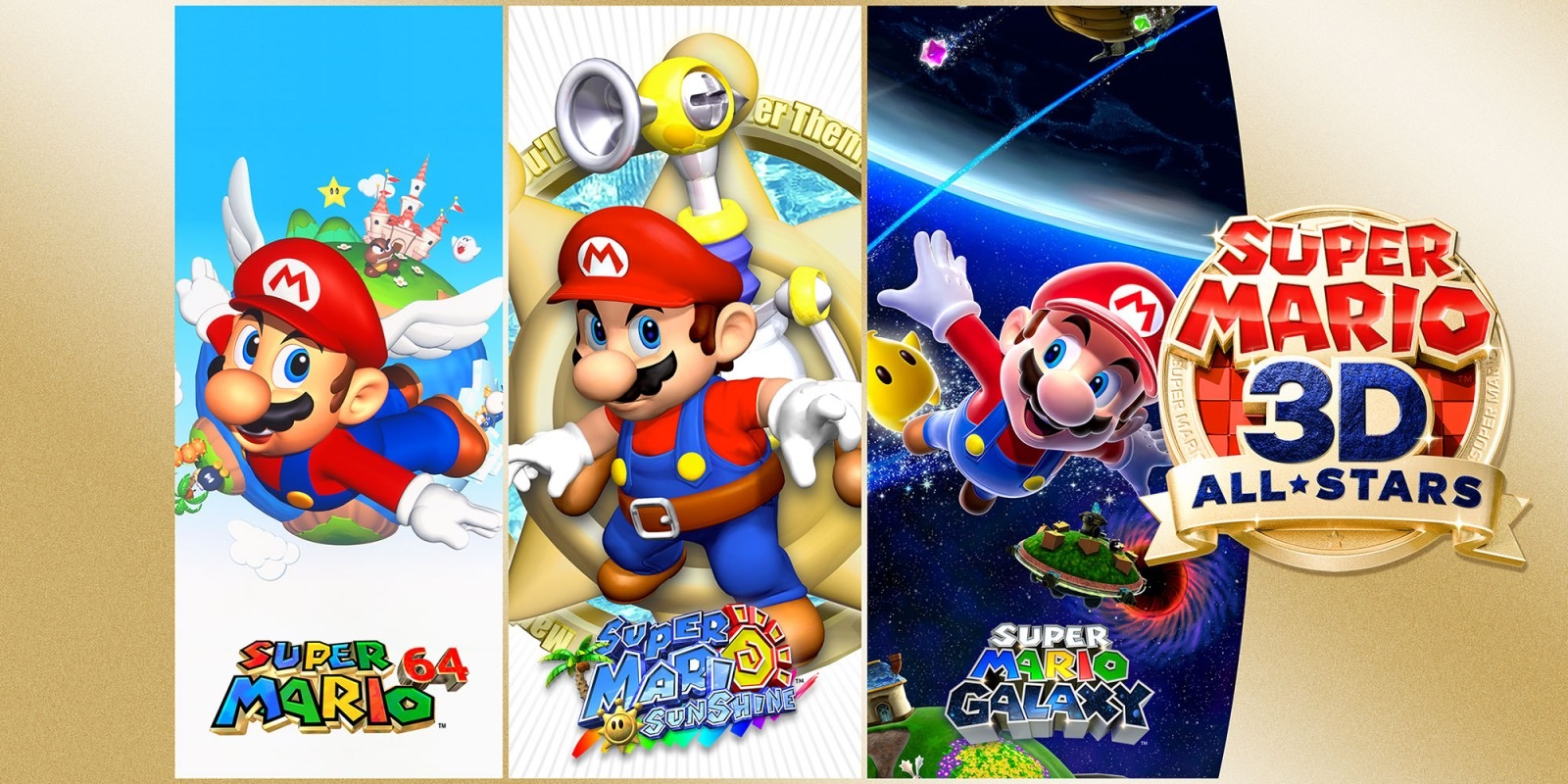 A promotional shot of Super Mario 3D All-Stars