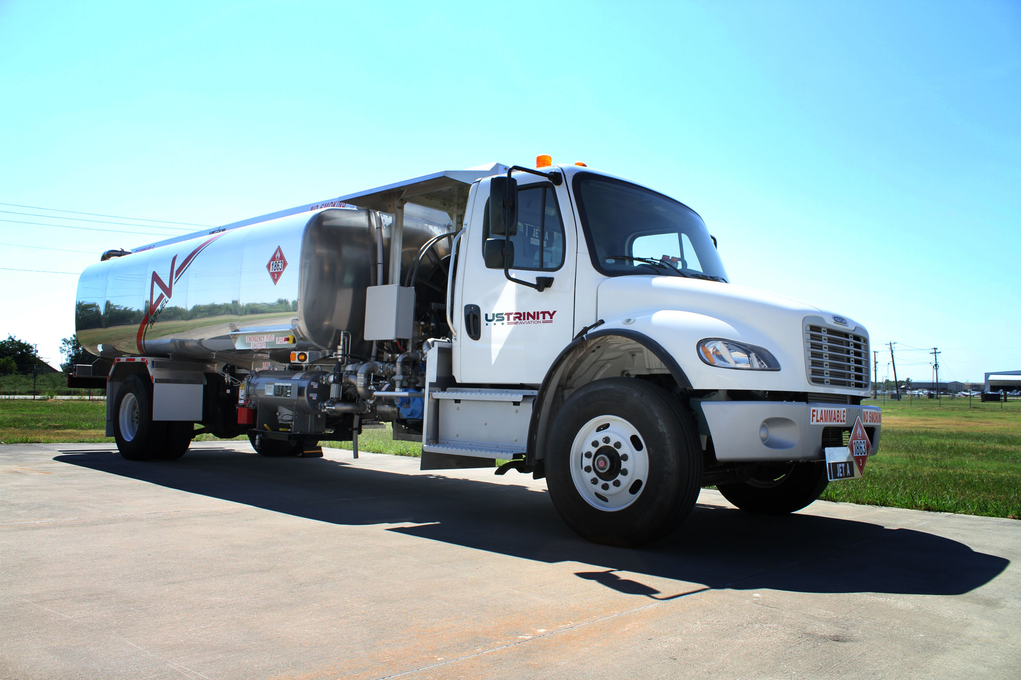 US Trinity Aviation fuel truck