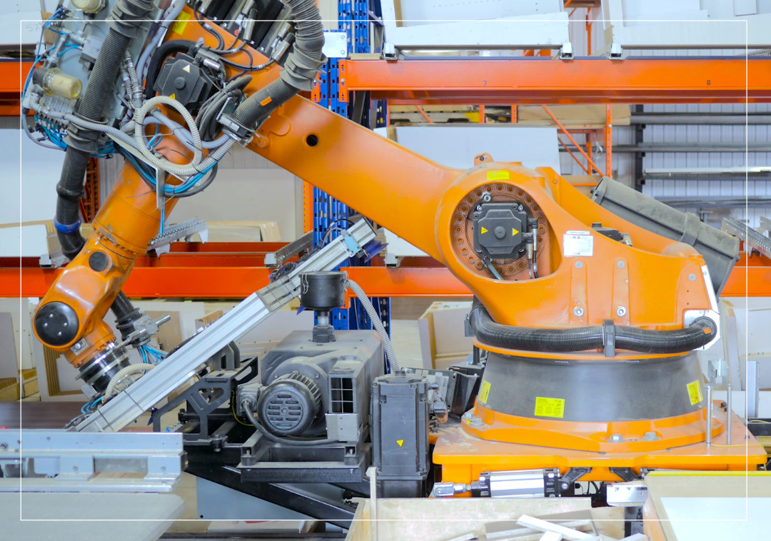 Machine tending: fully automated panel process line