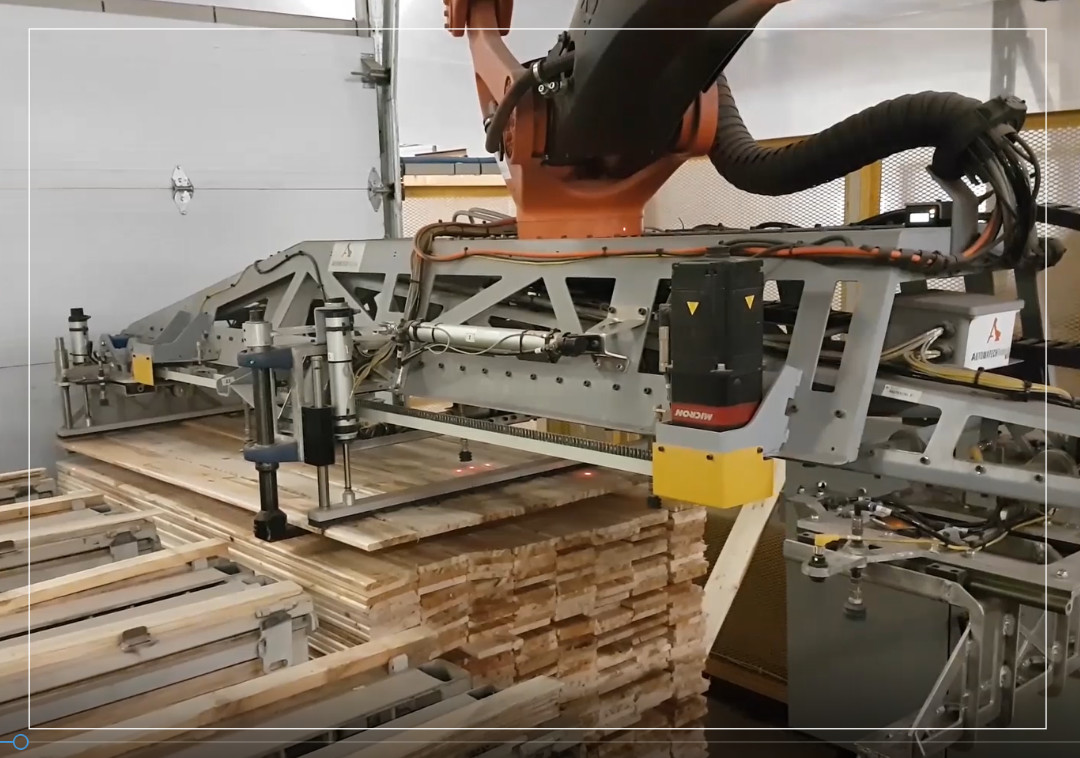 Palletizing : timber wood