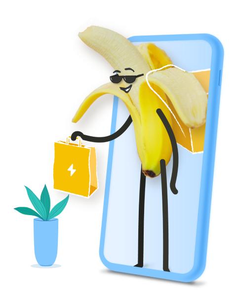 banana handing bag out of phone