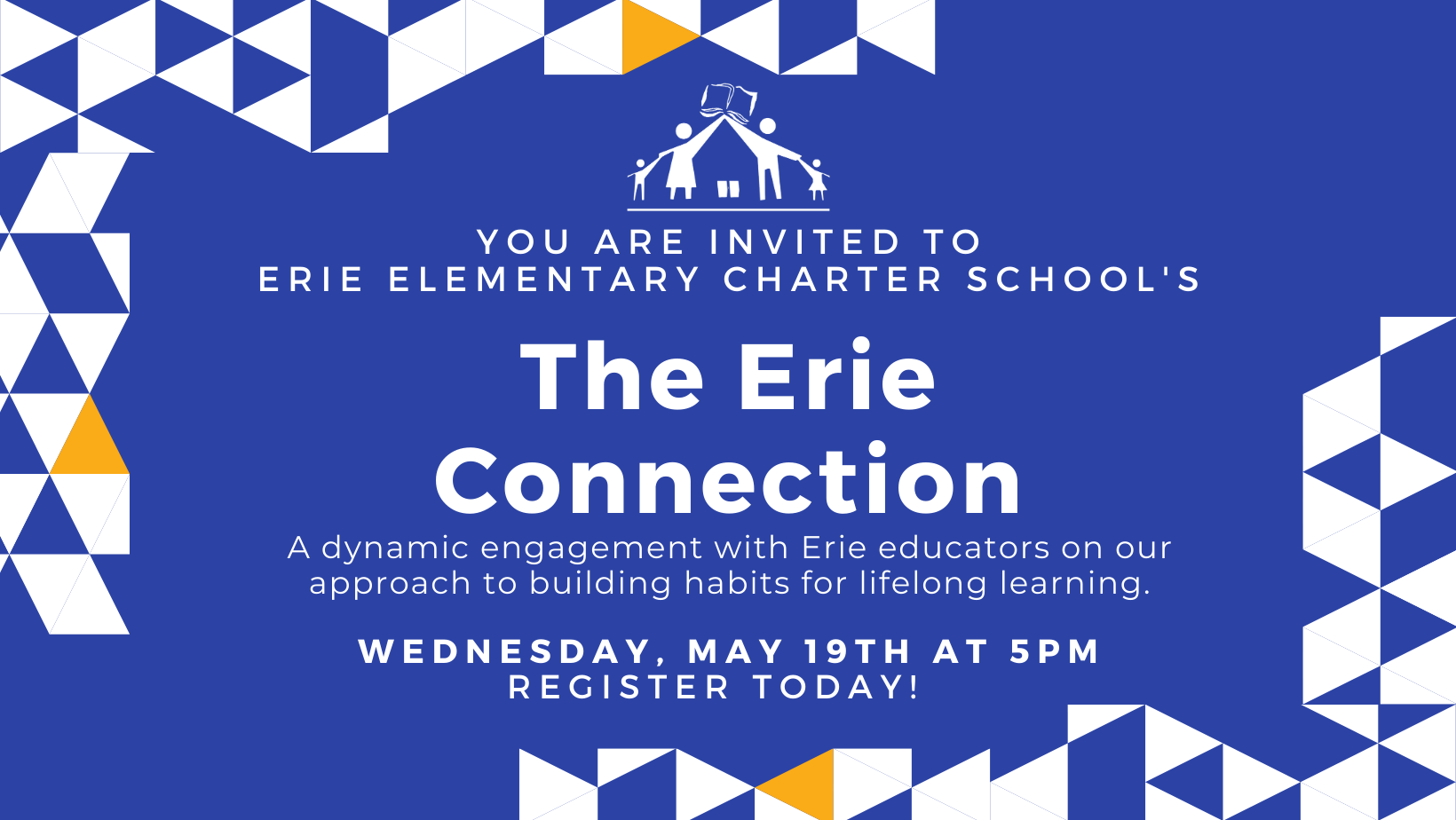 An invitation to The Erie Connection. A virtual, dynamic engagement with  Erie educators. During the program you will have a chance to observe and gain insight into our approach to Dual Language, Social Emotional Learning, Math and Literacy. Register today!