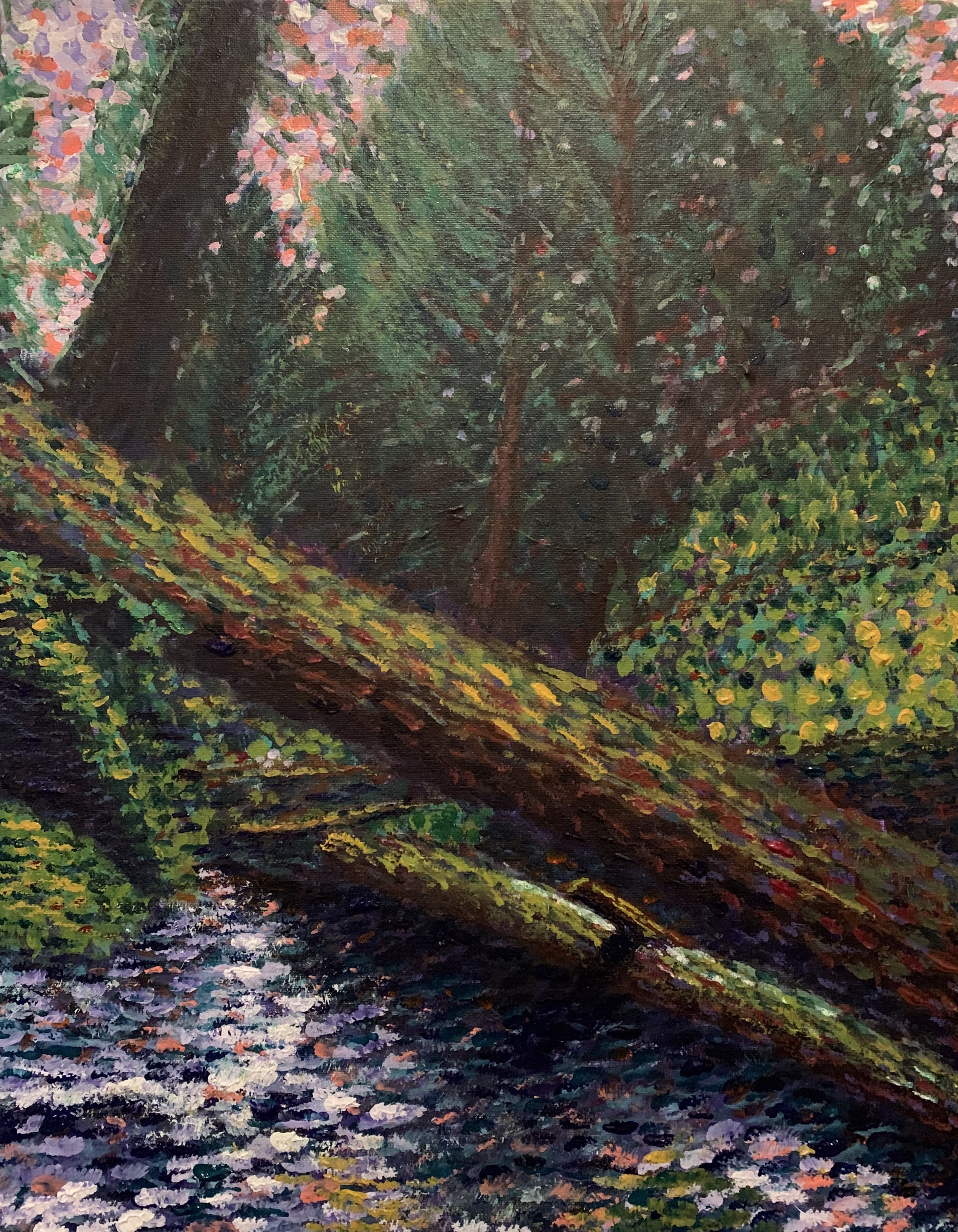 Impressionist Forest painting