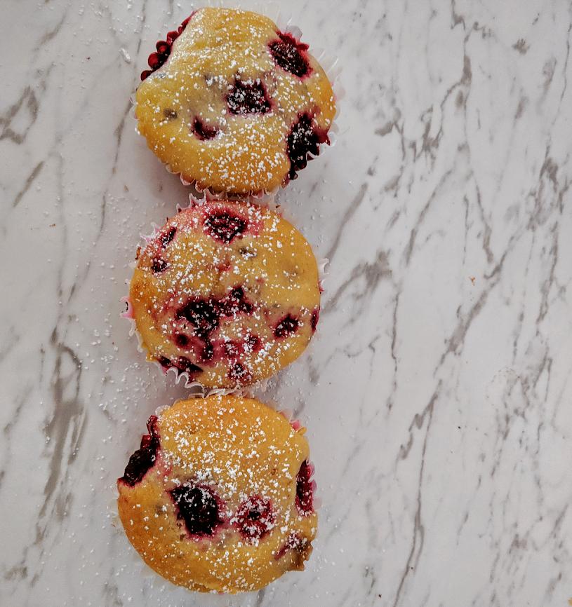 Vegan Raspberry Muffins