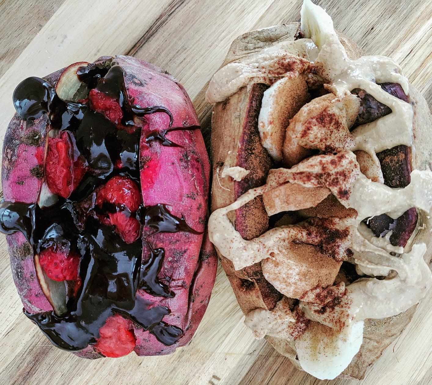 Breakfast Stuffed Sweet Potaoes