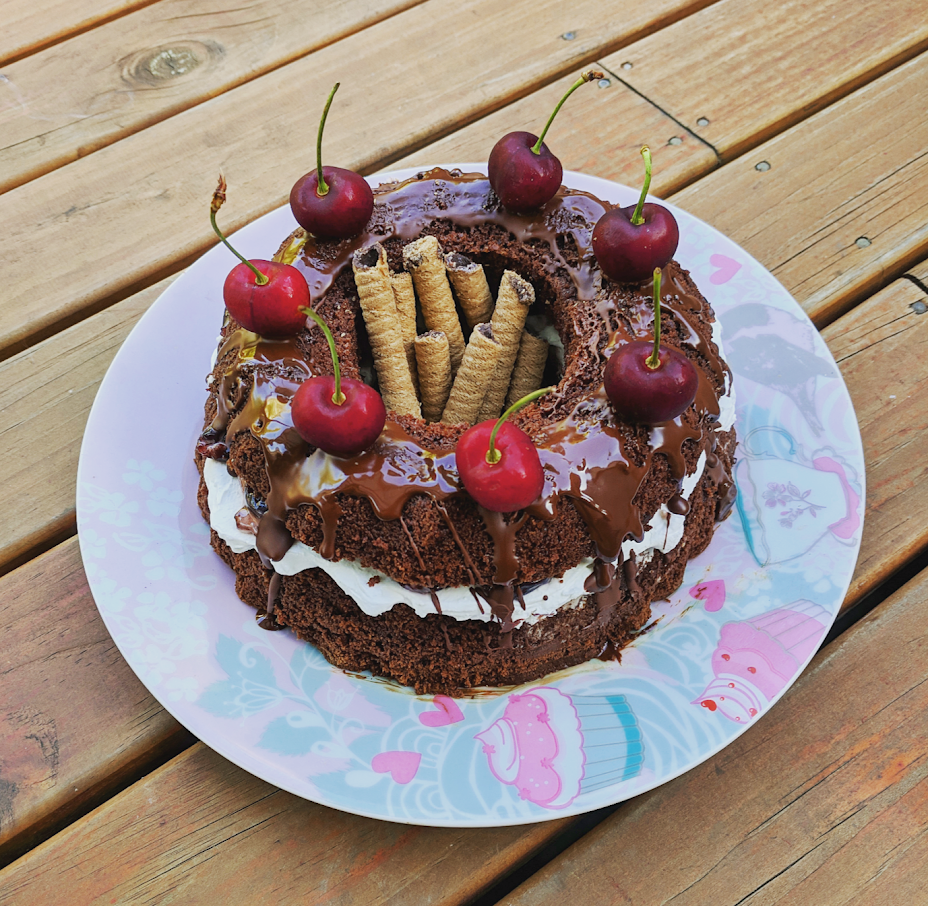 Vegan chocolate cak e