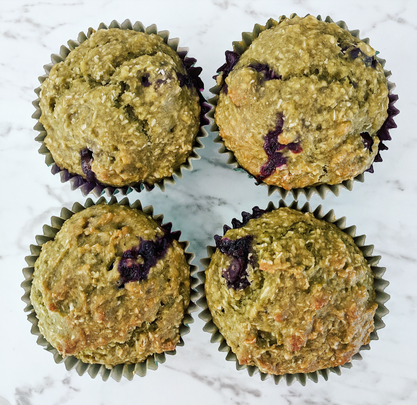 Matcha and Lemon Muffins
