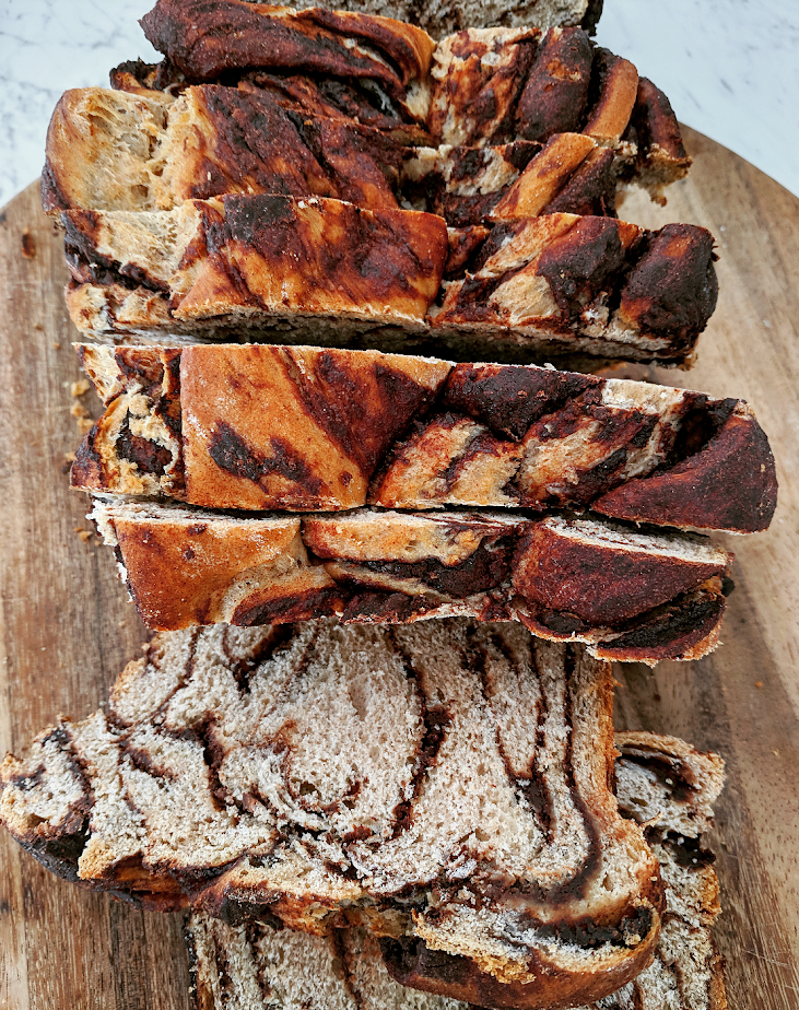 Vegan chocolate babka