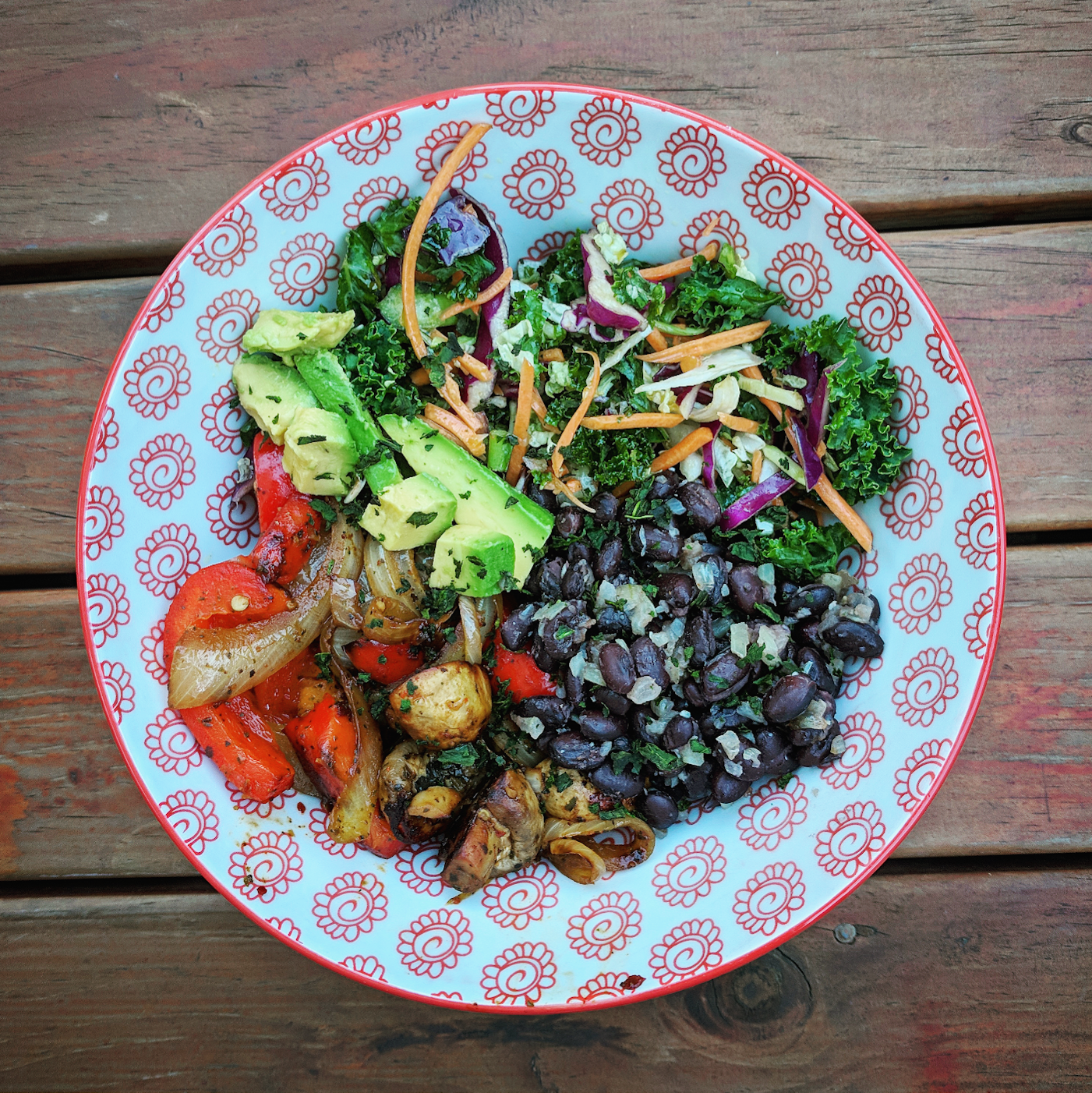 Vegan veggie bowl