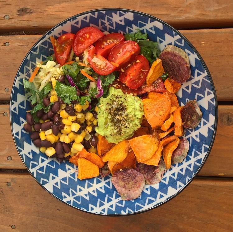 Sweet Potato, Avocado and Black Bean Buddha Bowls
