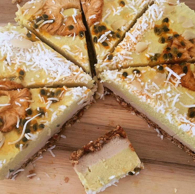 Raw Pineapple and Passion Fruit Cake