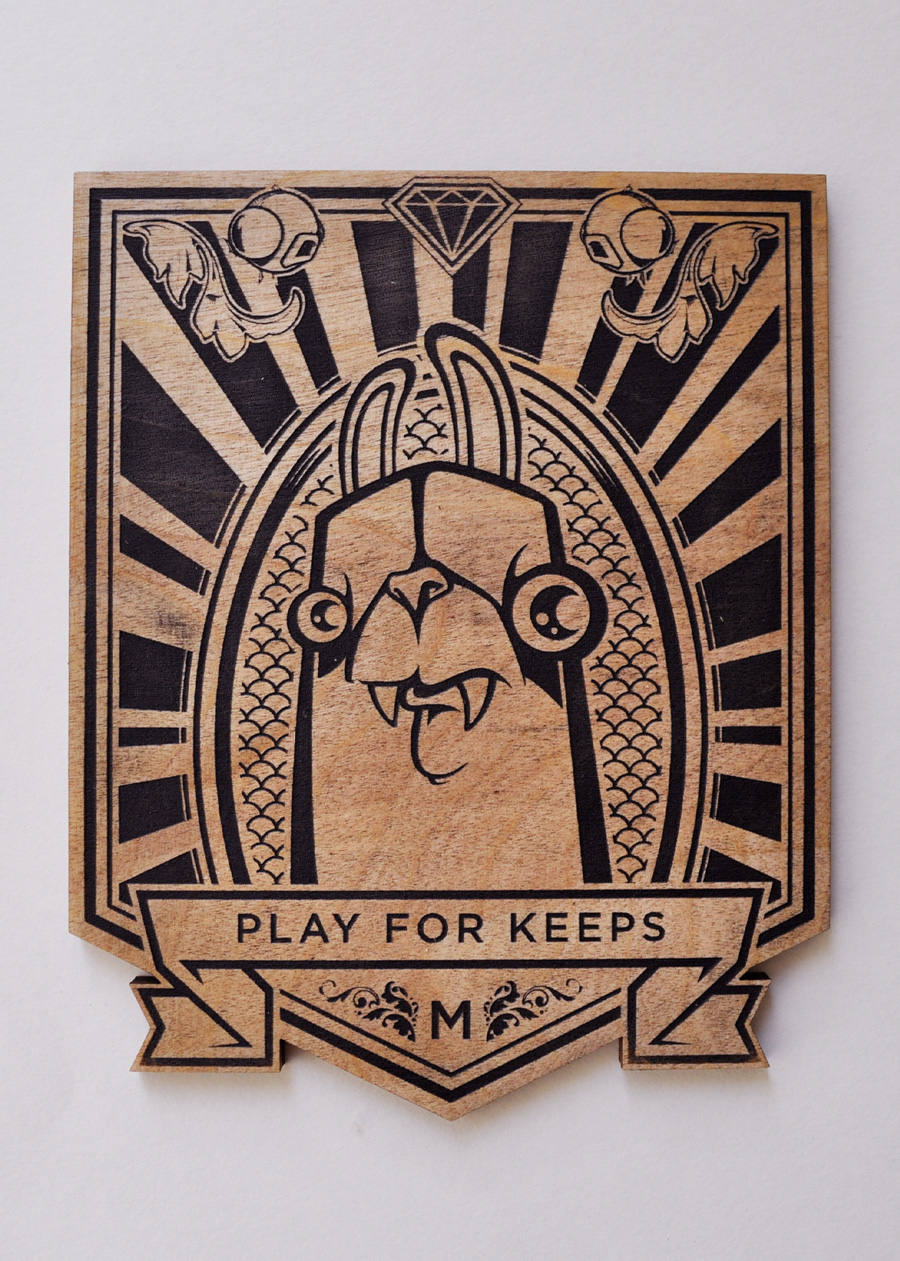 Play for Keeps Wood Etching