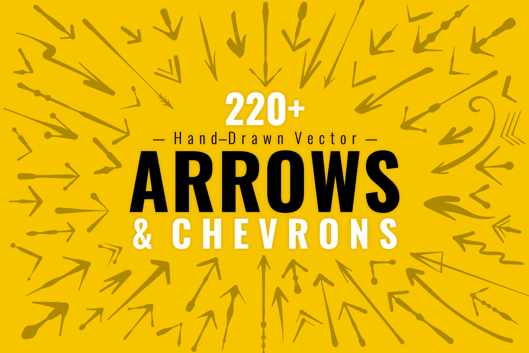 220+ Hand Drawn Vector Arrows