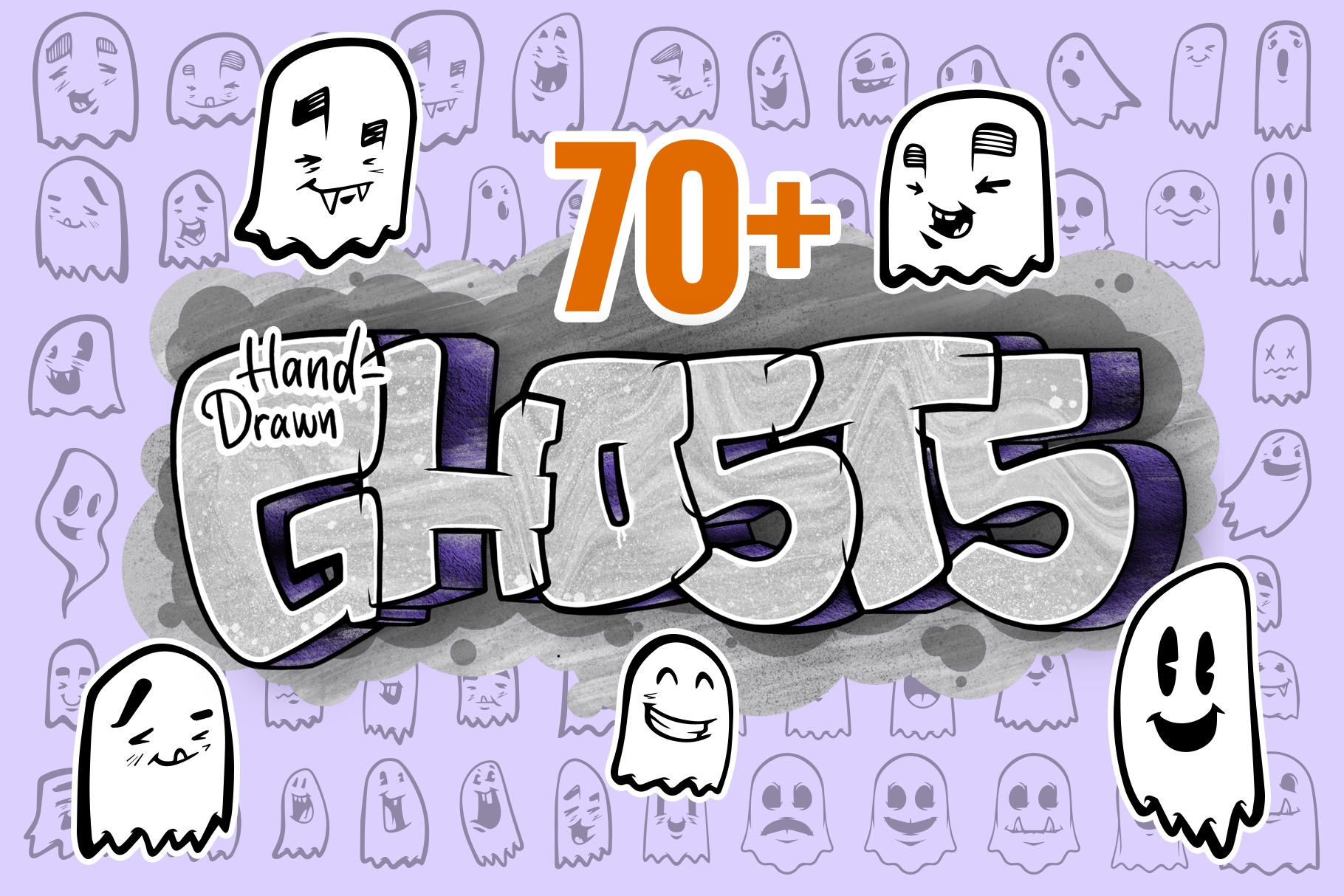 70+ Hand Drawn Ghost Illustrations