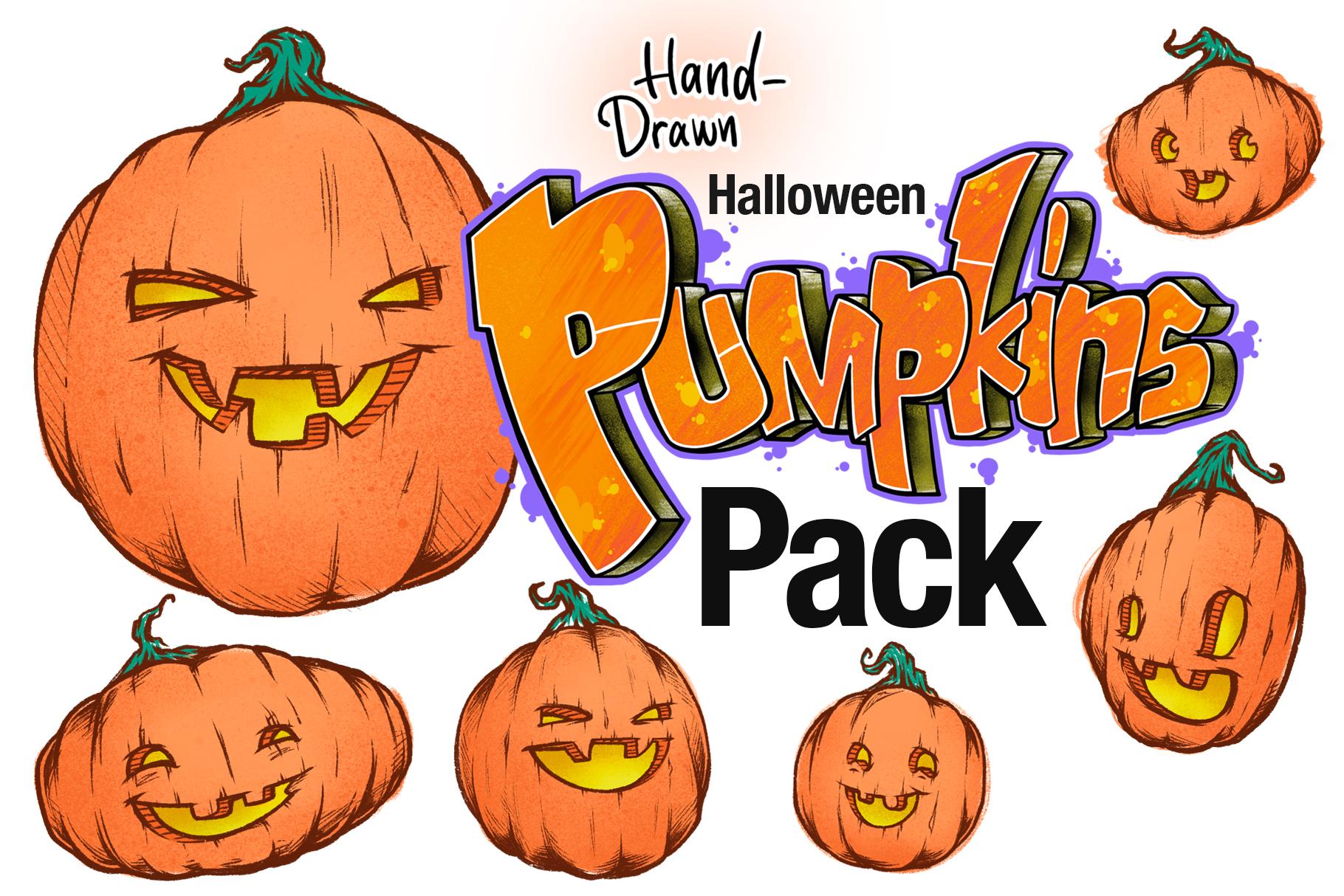 Illustrated Pumpkins Pack