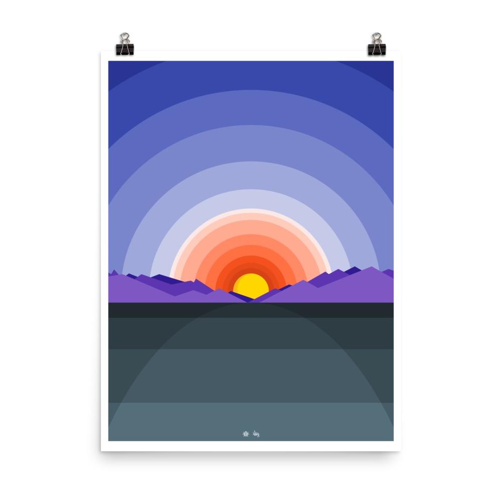 CO Sunset Poster Design