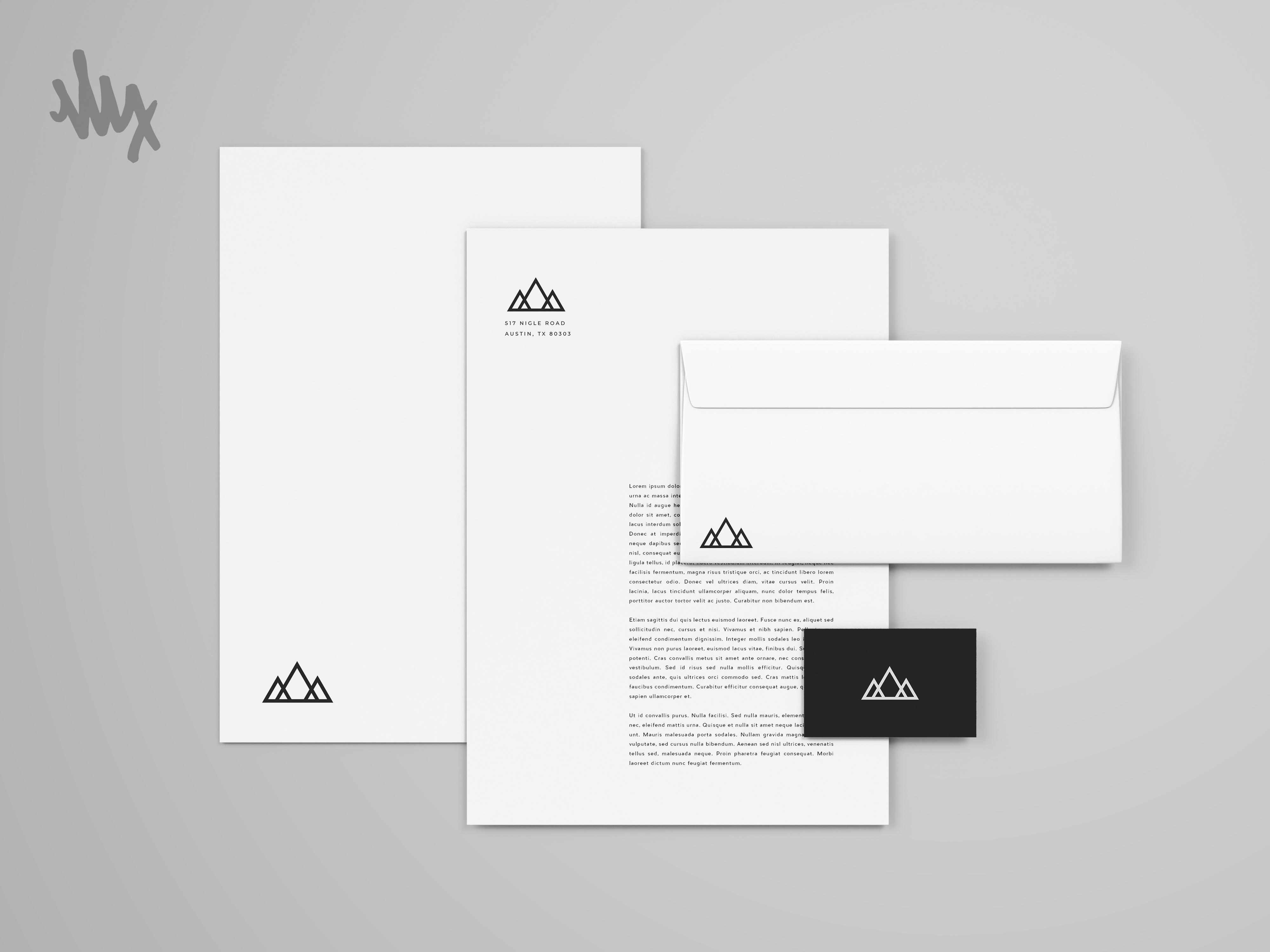 Mountain Brand Identity Mockup