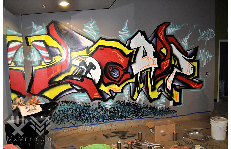 Graffiti Mural at Locals Barbershop