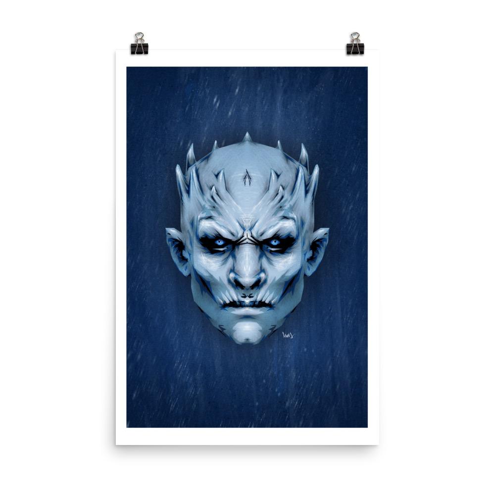 Night King - GoT Illustration Poster Print